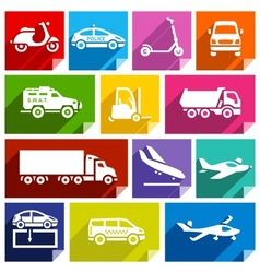 Transport flat icon bright color-05 vector image