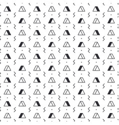 Triangle pattern with lightning on white vector
