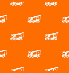 truck mounted crane pattern seamless vector image vector image