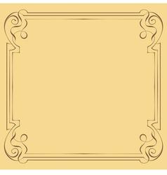 Vintage beautiful elegant frame Element for design vector image