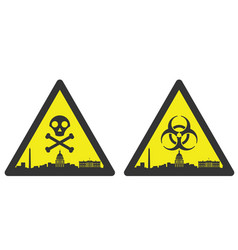 washington danger emergency biological hazard vector image
