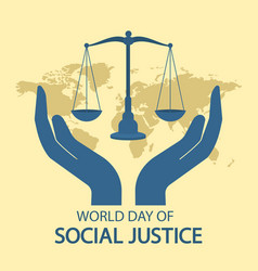 world day social justice vector image