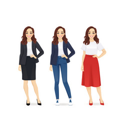Young business woman vector