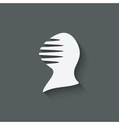 antique helmet symbol vector image vector image