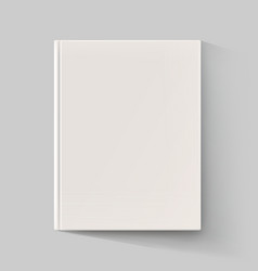 Blank book cover with long shadow vector image vector image