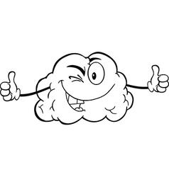 Cartoon brain activity drawings vector image vector image