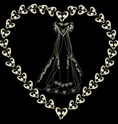 gold wedding dress in the loop vector image vector image