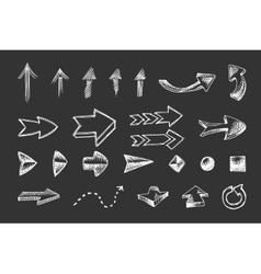 hand drawn arrows icons set vector image vector image