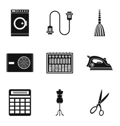 house cleaning icons set simple style vector image vector image