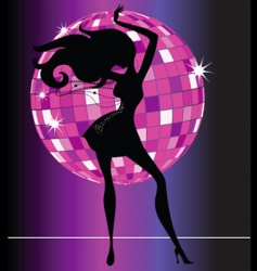 sexy female dancer vector image vector image