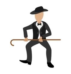 Tap dancer cartoon vector image
