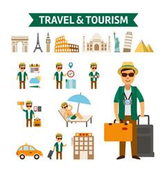travel to world flat design vector image
