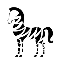african zebra isolated icon vector image