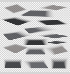 box square shadows with soft edge isolated on vector image