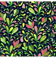 Fantasy flowers seamless pattern Floral ornament vector image vector image