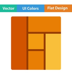 Flat design icon of parquet plank pattern vector image