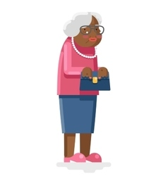 Grandmother Old African Adult Flat Design vector image vector image