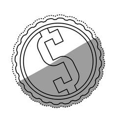 money symbol dollar vector image