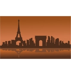 Silhouette of farance city vector image vector image