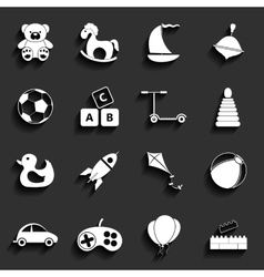 Toys Flat Icons vector image vector image
