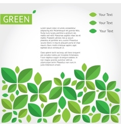 background about green ecology vector image