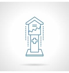 Charitable donations box flat line icon vector image