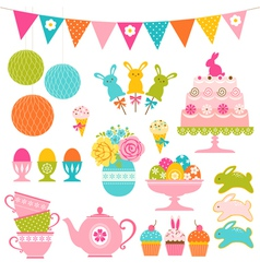 Easter party set vector