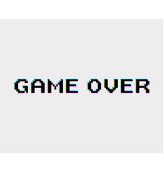game over icon vector image vector image