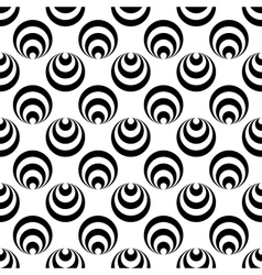 Polka dot and circle geometric seamless pattern 46 vector