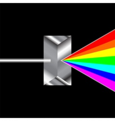 prism refraction vector image