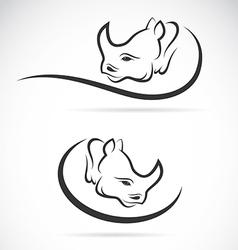 Rhino design vector image vector image