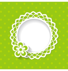 baby shower or a greeting card with a frame and a vector image