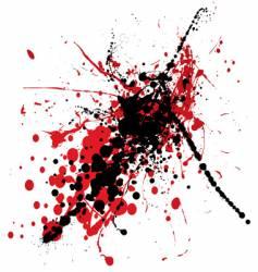 blood splat with black vector image
