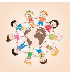 kids around the world vector image vector image