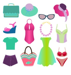 summer fashion 2 38 vector image vector image