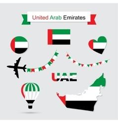 United Arab Emirates symbols vector image vector image