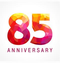 85 anniversary red logo vector