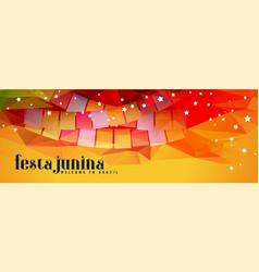 Abstract festival festa junina banner vector