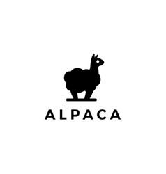 alpaca llama logo icon vector image