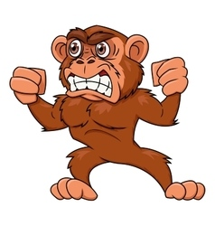 Angry monkey vector