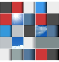 Background made of colorful squares vector