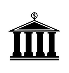 Banking building icon vector
