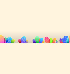 banner colored easter eggs vector image
