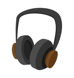 Big headphones cartoon icon vector