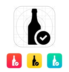 Bottles of beer icon vector