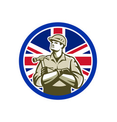 british builder union jack flag icon vector image