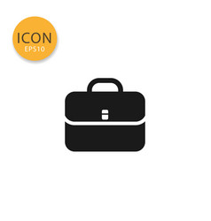 business bag icon isolated flat style vector image