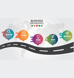 business infographic road design template pointer vector image
