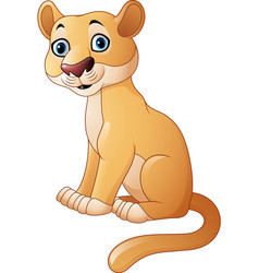 cartoon feline isolated on white background vector image