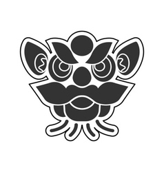 Chinese icons lion vector